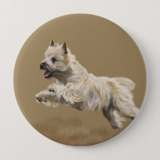 Cairn Terrier called Mackey 4 Inch Round Button