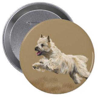 Cairn Terrier called Mackey 4 Inch Round Button