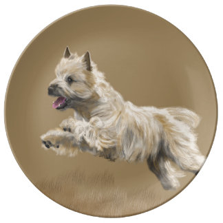 Cairn Terrier called Mackey Porcelain Plates