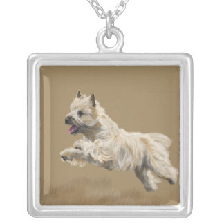 Cairn Terrier called Mackey Silver Plated Necklace