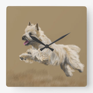 Cairn Terrier called Mackey Square Wall Clock