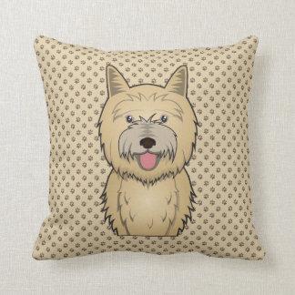 Cairn Terrier Cartoon Throw Pillow