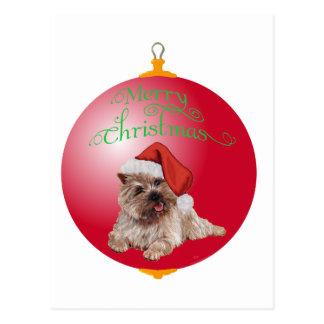 Cairn Terrier Christmas Ornaments Postcard