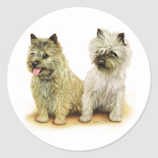 Cairn Terrier Classic Round Sticker