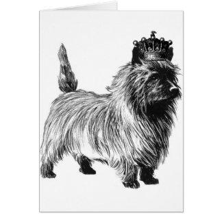 Cairn Terrier Dog Puppy Crown Card