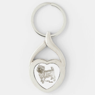 Cairn Terrier Heart KeyChain - TypoDoggies