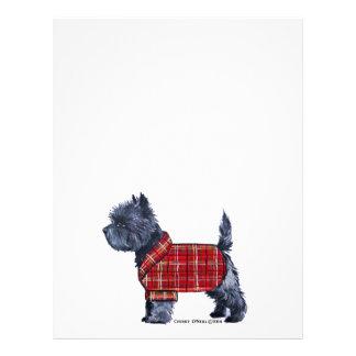 Cairn Terrier Holiday Letterhead