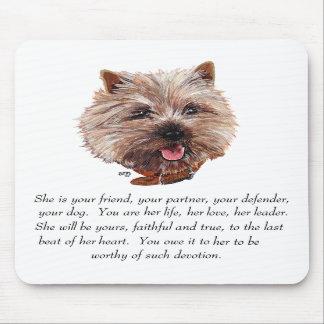 Cairn Terrier Keepsake - FEMALE Mouse Pads