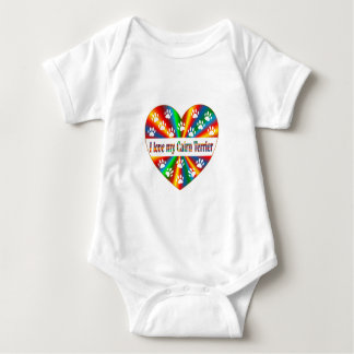 Cairn Terrier Love Baby Bodysuit