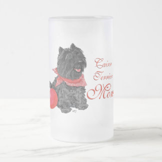 Cairn Terrier Mother's Day Frosted Glass Beer Mug
