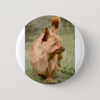 Cairn Terrier - Painting 2 Inch Round Button