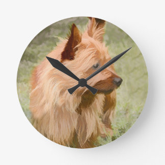 Cairn Terrier - Painting Round Clock