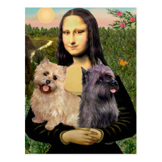 Cairn Terrier Pair - Mona Lisa Postcard