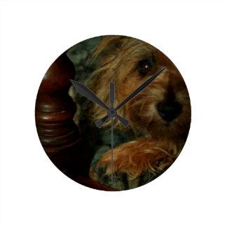 Cairn Terrier Round Clock