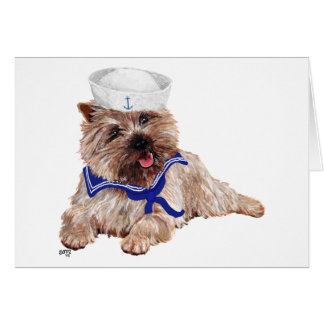 Cairn Terrier Sailor Card