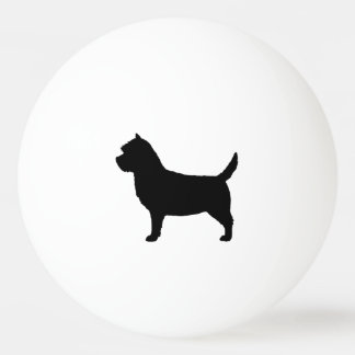 Cairn Terrier Silhouette Ping Pong Ball