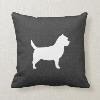 Cairn Terrier Silhouette Throw Pillow