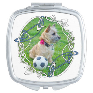Cairn Terrier Soccer Mirror For Makeup