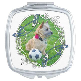 Cairn Terrier Soccer Vanity Mirror