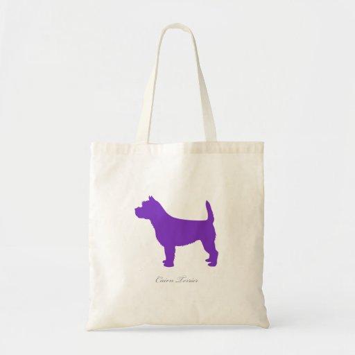 Cairn Terrier Tote Bag (purple silhouette)