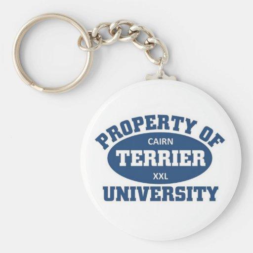 Cairn Terrier University Keychain