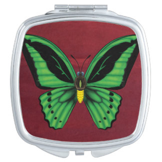 Cairns Birdwing Butterfly Compact Mirror