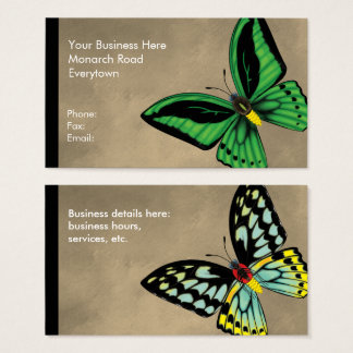 Cairns Birdwing Butterfly Dorsal and Ventral Business Card