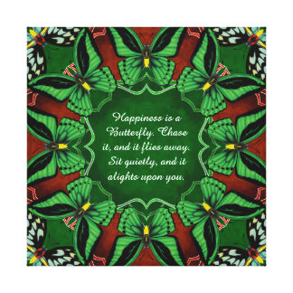 Cairns Birdwing Butterfly Mandala Canvas Print