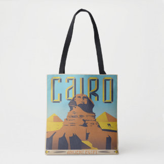 Cairo Ancient Egypt Pyramids Travel Vintage Tote Bag