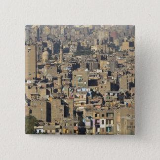 Cairo Cityscape 2 Inch Square Button
