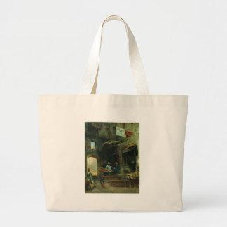 Cairo court by Konstantin Makovsky Large Tote Bag