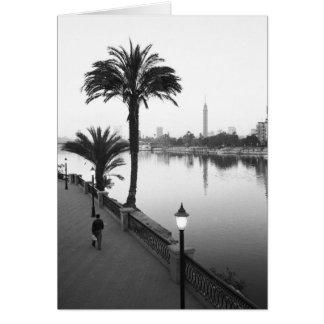 Cairo Egypt, Along the Nile River Card