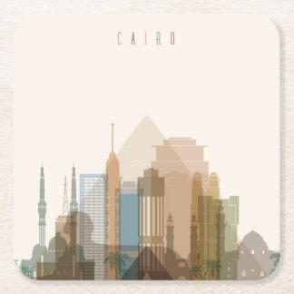 Cairo, Egypt | City Skyline Square Paper Coaster