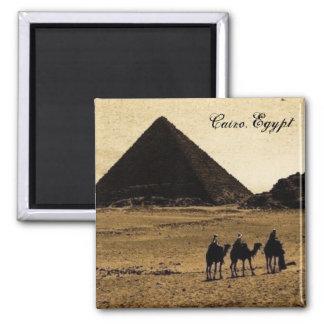 Cairo, Egypt Square Magnet