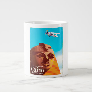 Cairo Egypt Vintage style travel poster Large Coffee Mug