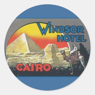 Cairo Egypt Vintage Travel Classic Round Sticker