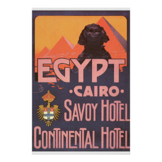 Cairo Egypt Vintage Travel Poster