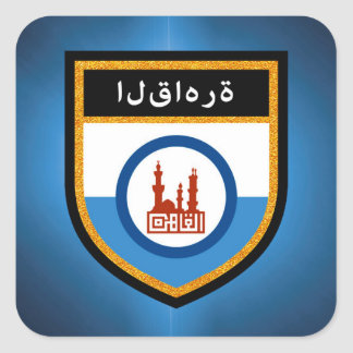 Cairo Flag Square Sticker