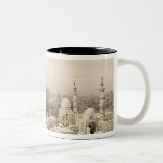"Cairo looking West, from ""Egypt and Nubia"", Vol.3 Two-Tone Coffee Mug"