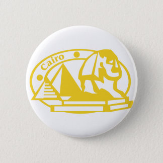 Cairo Stamp 2 Inch Round Button