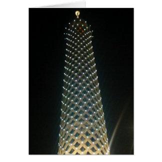 cairo tower high greeting card