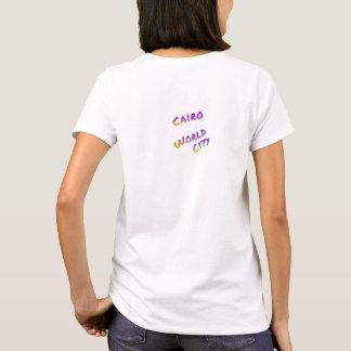 Cairo world city, colorful text art T-Shirt