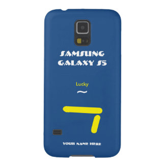 Caisse 7 Blue2 chanceuse de la galaxie S5 de Coques Galaxy S5