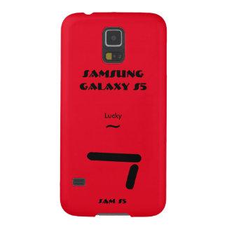 Caisse 7 chanceuse de la galaxie S5 de Samsung Protections Galaxy S5