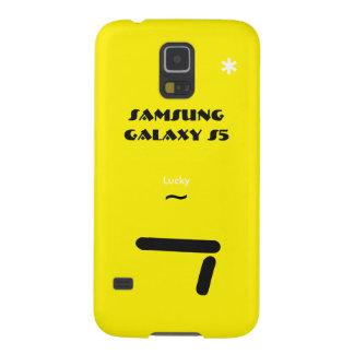 Caisse 7 chanceuse de la galaxie S5 de Samsung Coque Galaxy S5