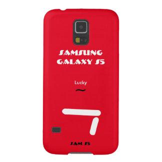 Caisse 7 chanceuse de la galaxie S5 de Samsung Coques Pour Galaxy S5