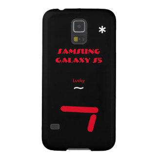 Caisse 7 chanceuse de la galaxie S5 de Samsung Protection Galaxy S5