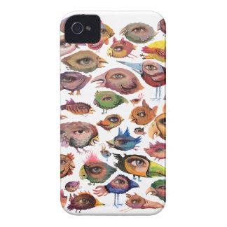 Caisse audacieuse de Blackberry de yeux d'oiseaux Coque iPhone 4 Case-Mate
