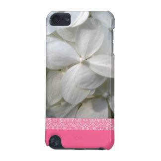Caisse blanche de contact d'iPod d'hortensia