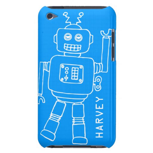 Caisse bleue d'amusement et blanche de contact d'i coque iPod touch Case-Mate